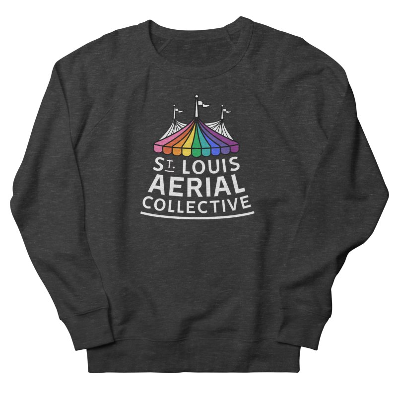 B&W Rainbow Logo Men's French Terry Sweatshirt by St. Louis Aerial Collective