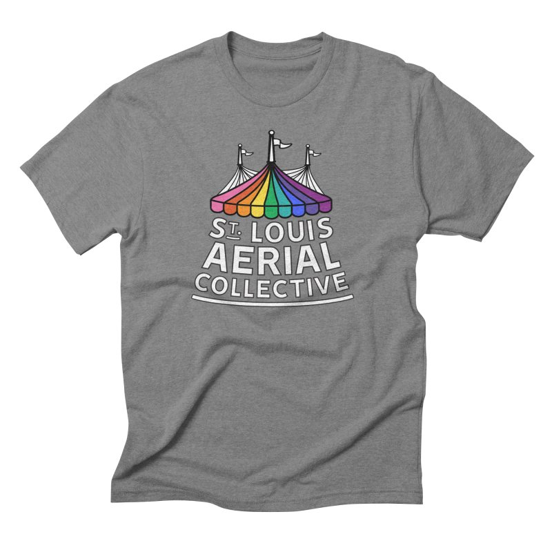 B&W Rainbow Logo Men's Triblend T-Shirt by St. Louis Aerial Collective
