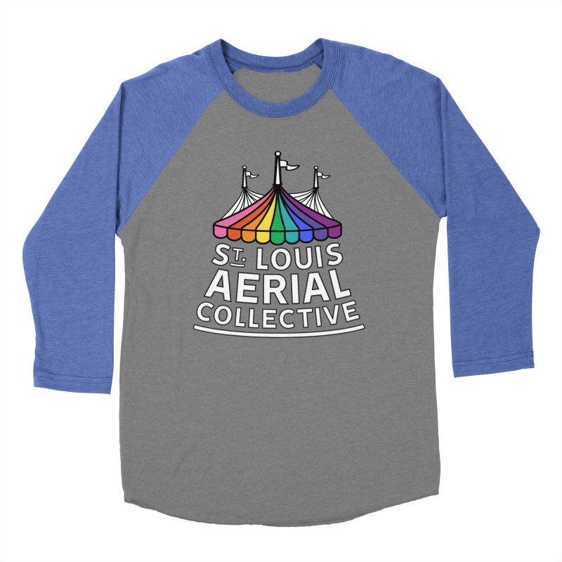 B&W Rainbow Logo Women's Baseball Triblend Longsleeve T-Shirt by St. Louis Aerial Collective