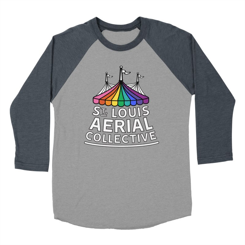 B&W Rainbow Logo Women's Baseball Triblend Longsleeve T-Shirt by St. Louis Aerial Collective