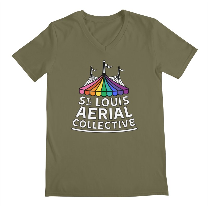 B&W Rainbow Logo Men's Regular V-Neck by St. Louis Aerial Collective