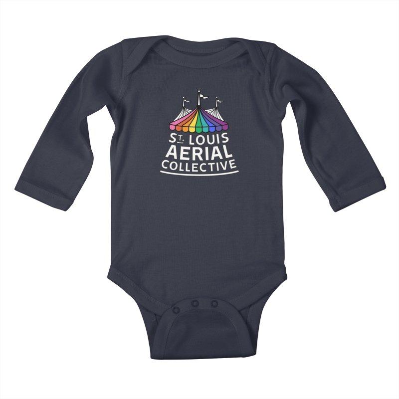 B&W Rainbow Logo Kids Baby Longsleeve Bodysuit by St. Louis Aerial Collective