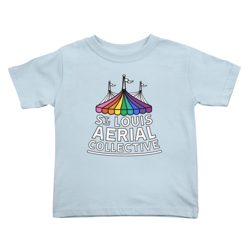 B&W Rainbow Logo Kids Toddler T-Shirt by St. Louis Aerial Collective