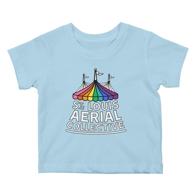 B&W Rainbow Logo Kids Baby T-Shirt by St. Louis Aerial Collective