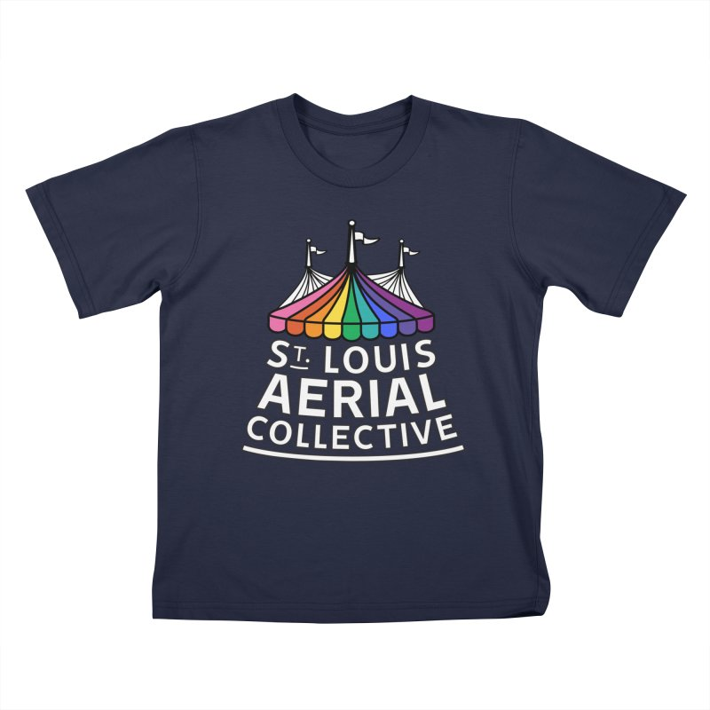 B&W Rainbow Logo Kids T-Shirt by St. Louis Aerial Collective