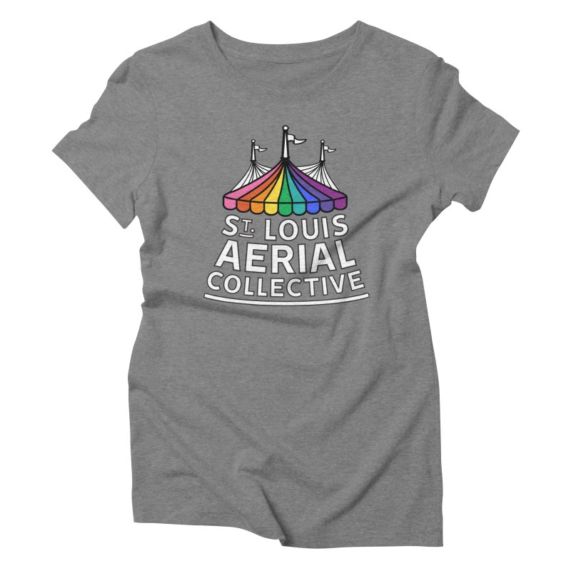B&W Rainbow Logo Women's Triblend T-Shirt by St. Louis Aerial Collective