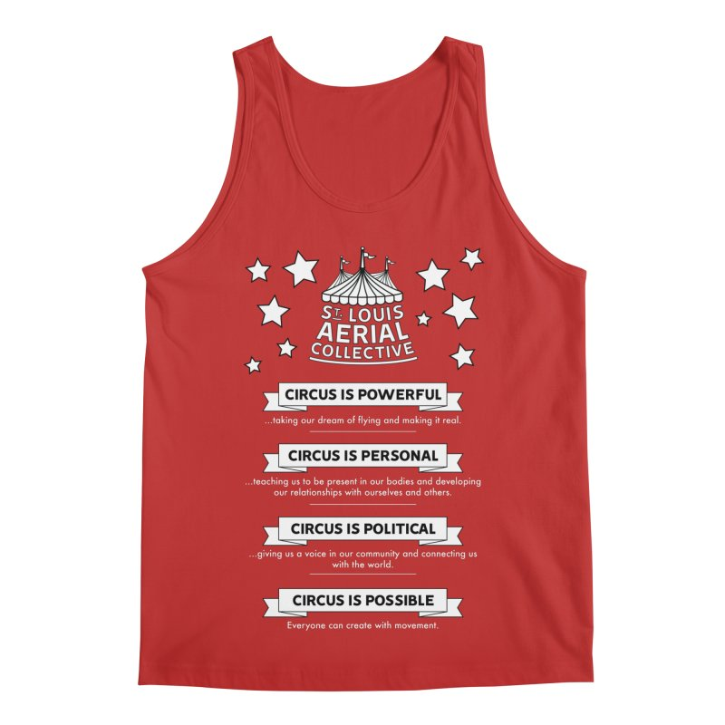 SLAC Mission--black and white Men's Regular Tank by St. Louis Aerial Collective