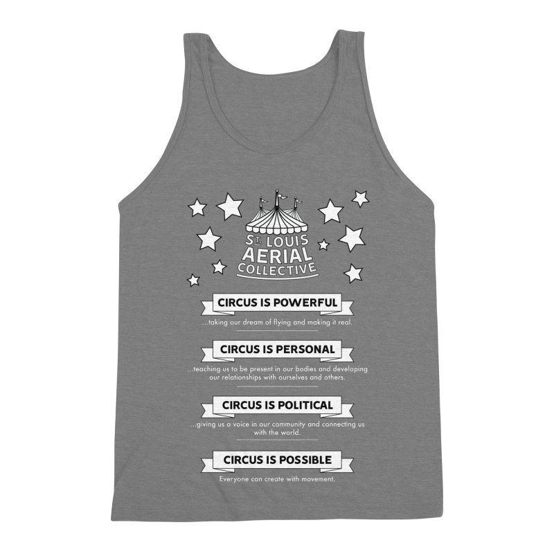 SLAC Mission--black and white Men's Triblend Tank by St. Louis Aerial Collective