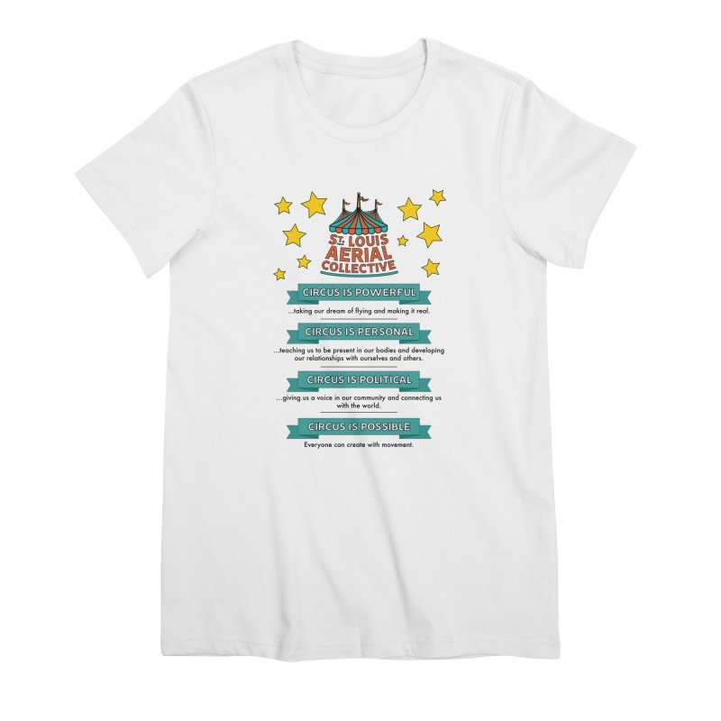 SLAC Mission--color Women's Premium T-Shirt by St. Louis Aerial Collective
