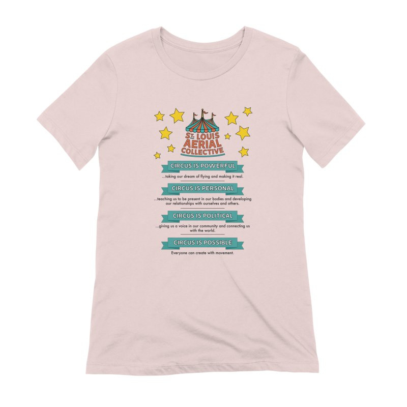 SLAC Mission--color Women's Extra Soft T-Shirt by St. Louis Aerial Collective