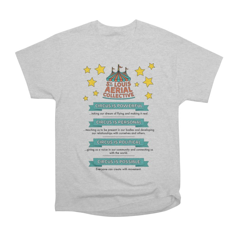 SLAC Mission--color Men's Heavyweight T-Shirt by St. Louis Aerial Collective