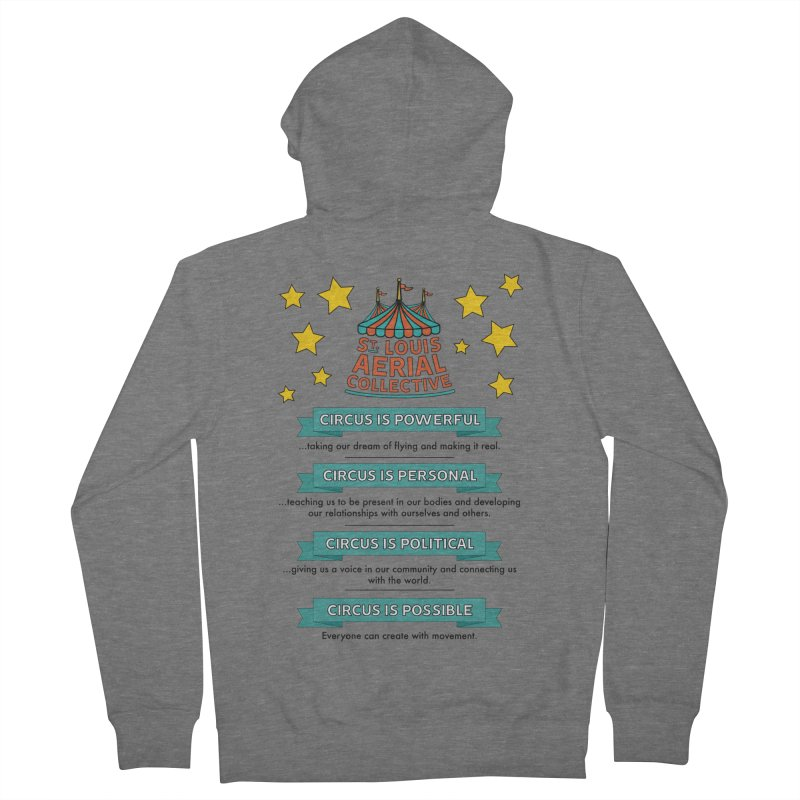SLAC Mission--color Women's French Terry Zip-Up Hoody by St. Louis Aerial Collective