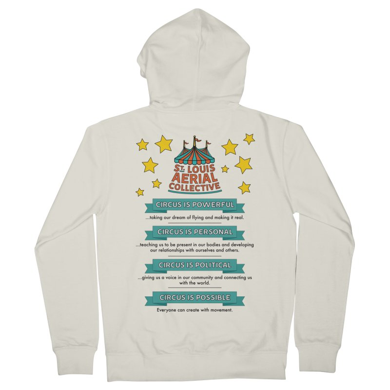 SLAC Mission--color Men's French Terry Zip-Up Hoody by St. Louis Aerial Collective