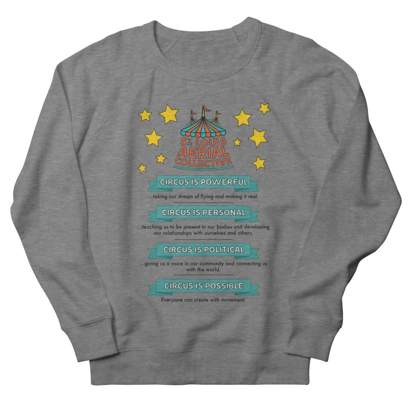 SLAC Mission--color Women's French Terry Sweatshirt by St. Louis Aerial Collective