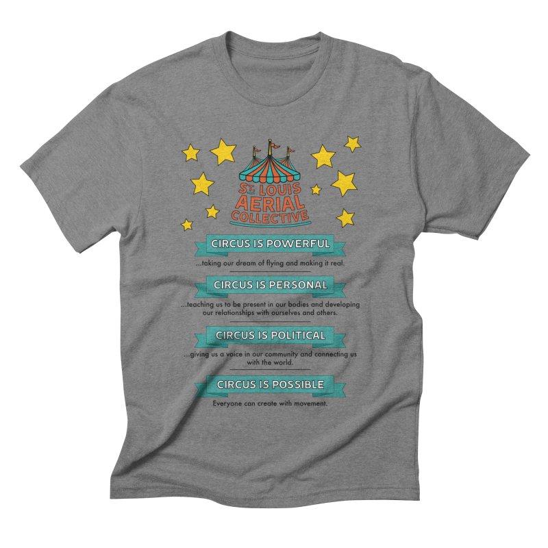 SLAC Mission--color Men's Triblend T-Shirt by St. Louis Aerial Collective