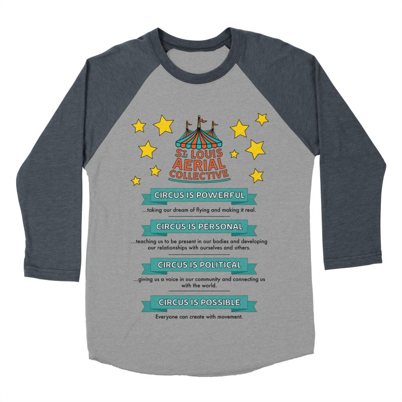SLAC Mission--color Women's Baseball Triblend Longsleeve T-Shirt by St. Louis Aerial Collective