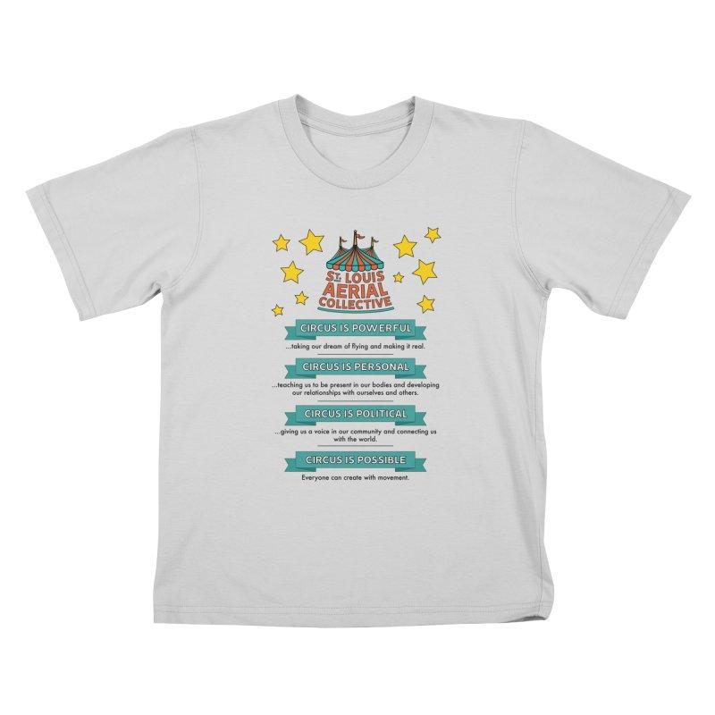 SLAC Mission--color Kids T-Shirt by St. Louis Aerial Collective