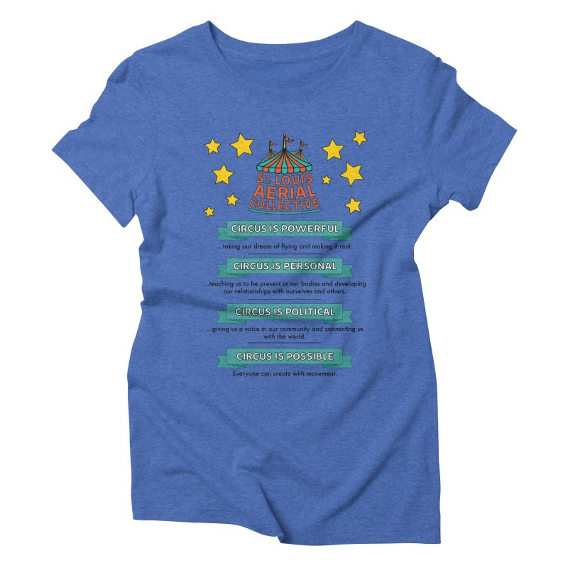 SLAC Mission--color Women's Triblend T-Shirt by St. Louis Aerial Collective