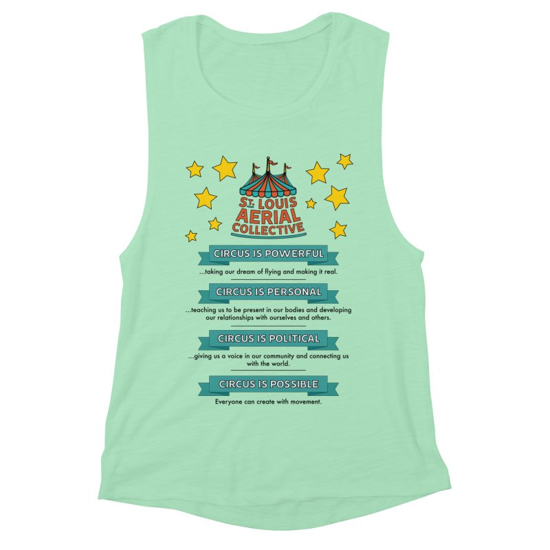 SLAC Mission--color Women's Muscle Tank by St. Louis Aerial Collective