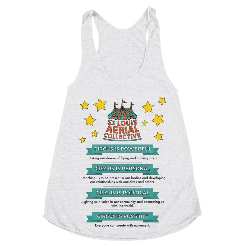 SLAC Mission--color Women's Racerback Triblend Tank by St. Louis Aerial Collective