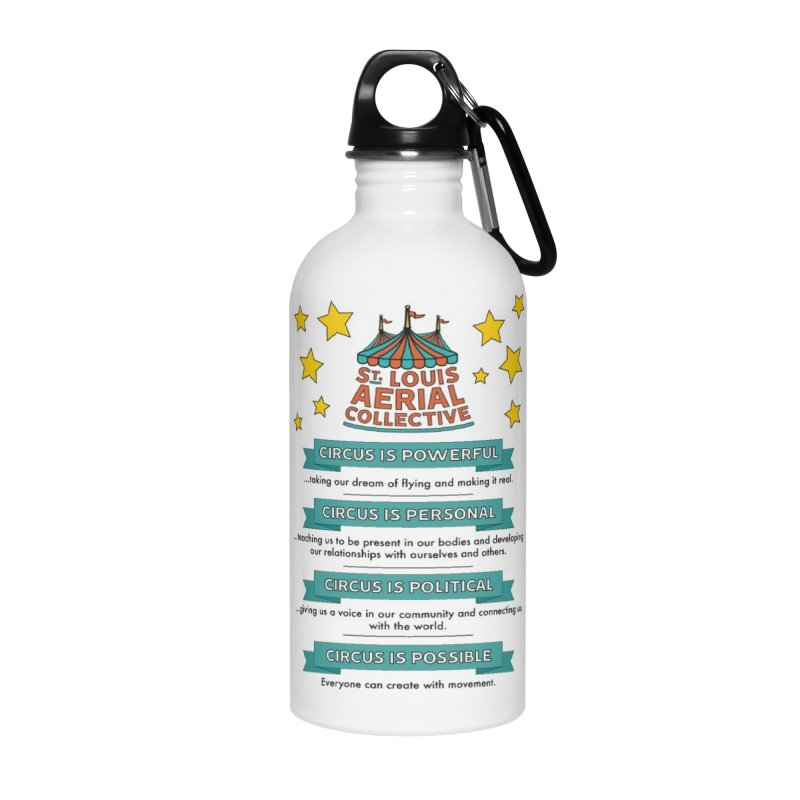 SLAC Mission--color Accessories Water Bottle by St. Louis Aerial Collective