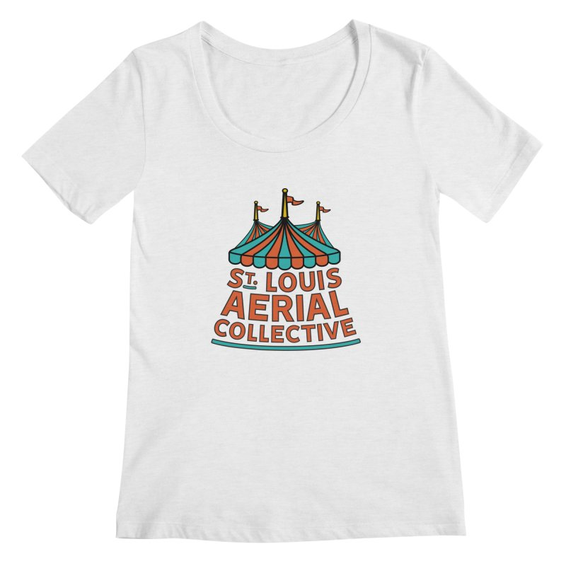 SLAC Classic Logo Women's Regular Scoop Neck by St. Louis Aerial Collective