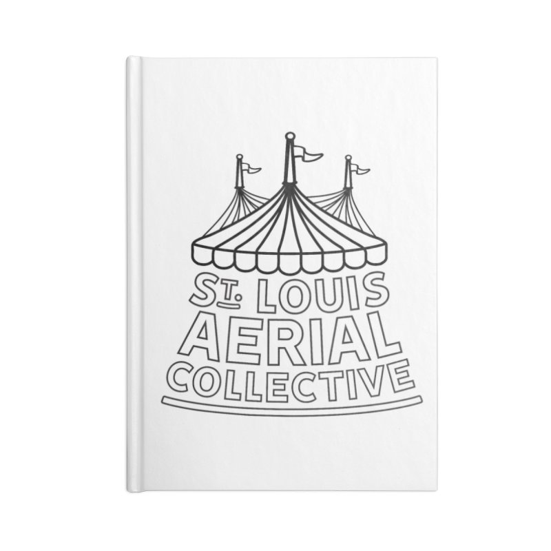 SLAC Classic Black & White Logo Accessories Blank Journal Notebook by St. Louis Aerial Collective