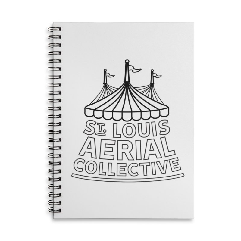 SLAC Classic Black & White Logo Accessories Lined Spiral Notebook by St. Louis Aerial Collective