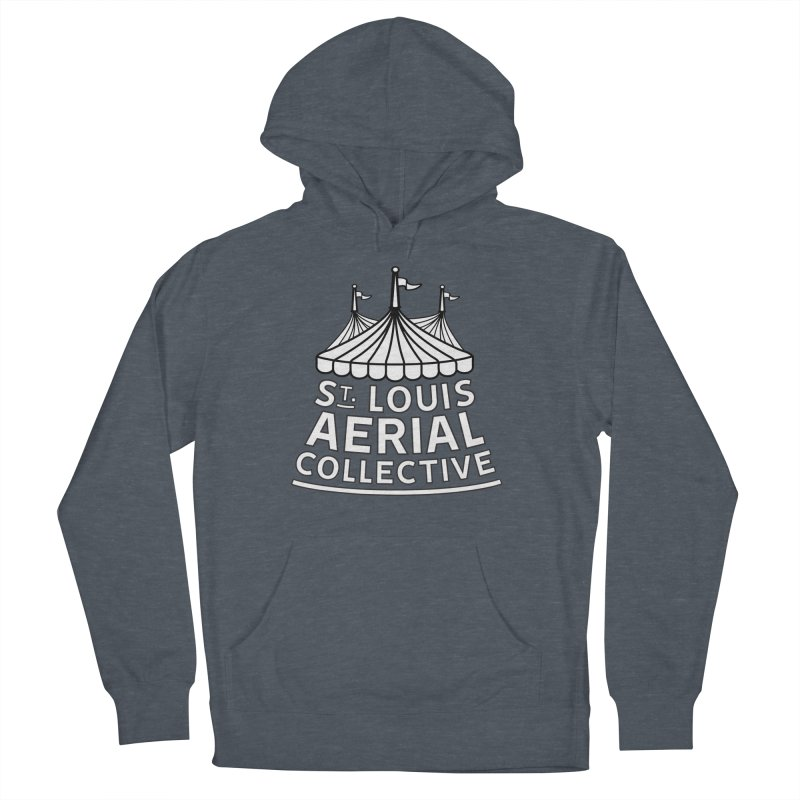 SLAC Classic Black & White Logo Men's French Terry Pullover Hoody by St. Louis Aerial Collective