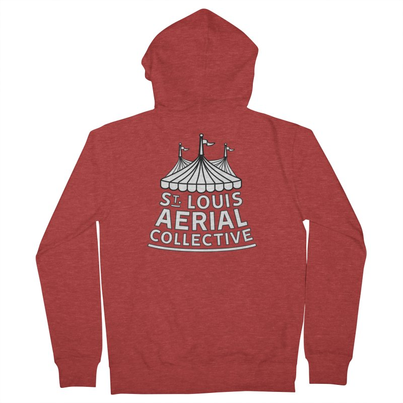 SLAC Classic Black & White Logo Women's French Terry Zip-Up Hoody by St. Louis Aerial Collective