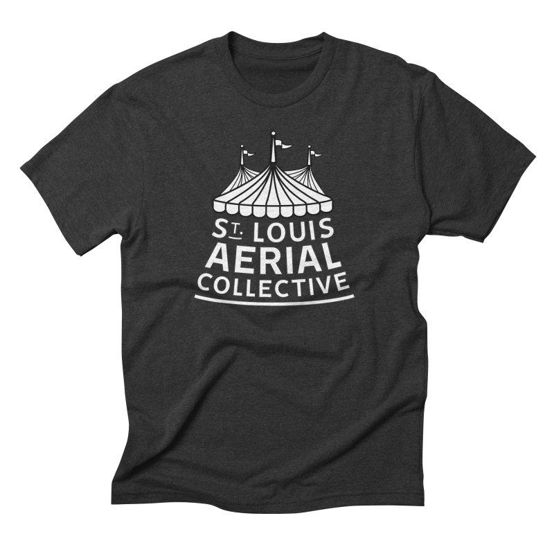 SLAC Classic Black & White Logo Men's Triblend T-Shirt by St. Louis Aerial Collective
