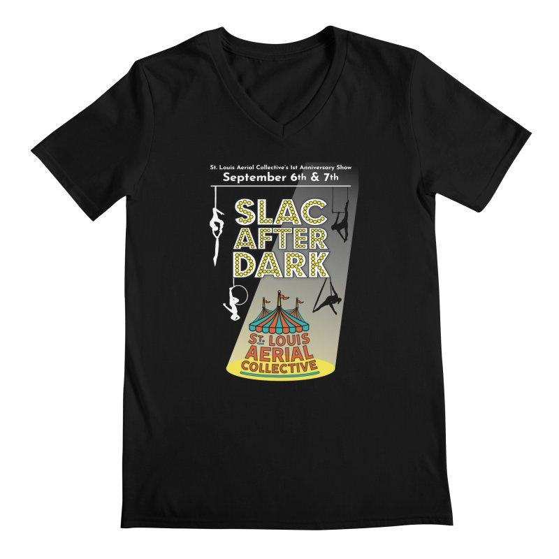 SLAC After Dark Men's Regular V-Neck by St. Louis Aerial Collective