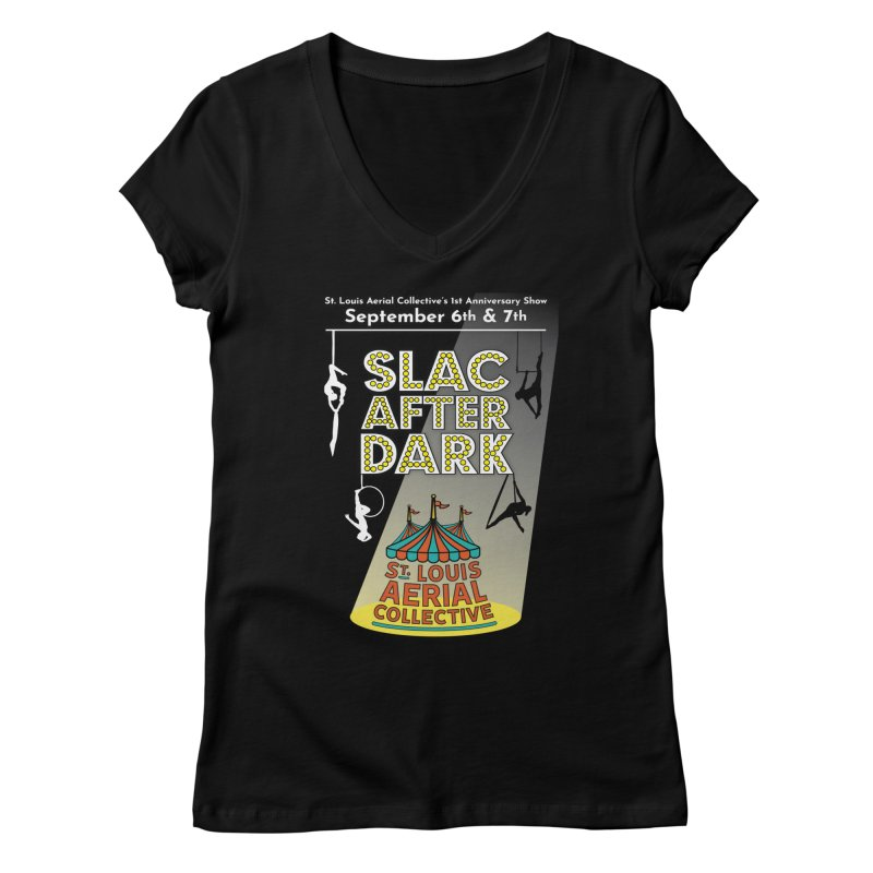 SLAC After Dark Women's Regular V-Neck by St. Louis Aerial Collective