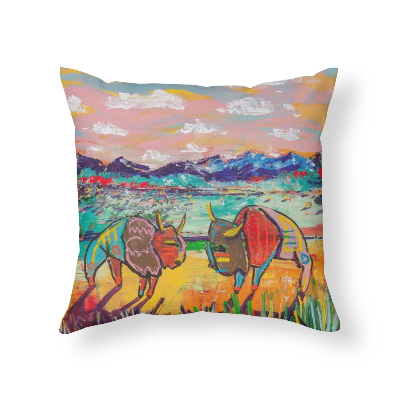 wild things in Throw Pillow by stobo's Artist Shop