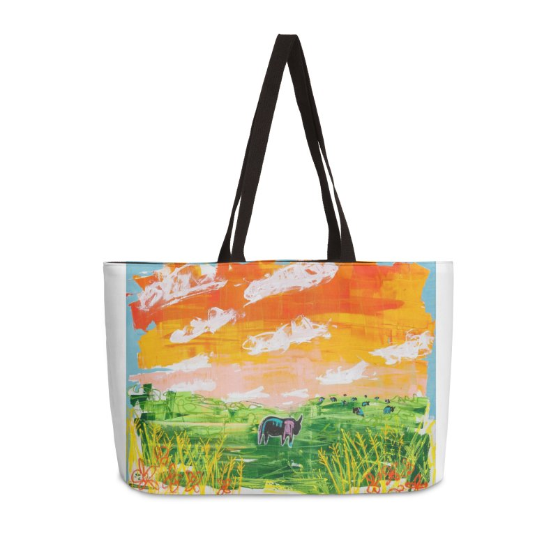 he would stand there alone and look out. I always thought he was lonely. He was looking at her. in Weekender Bag by stobo's Artist Shop