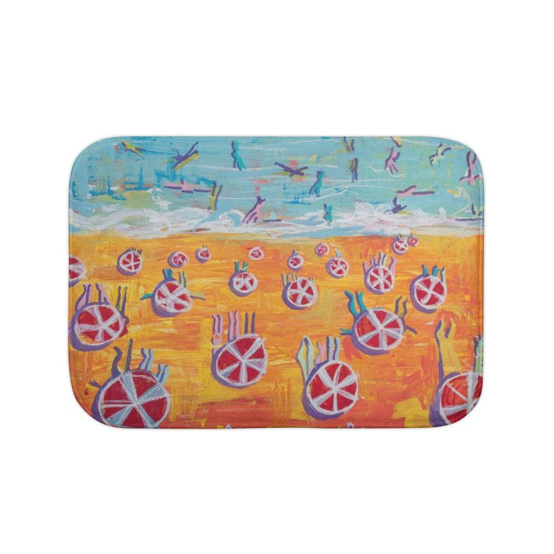 the beach is in my heart and in between my toes.  in Bath Mat by stobo's Artist Shop