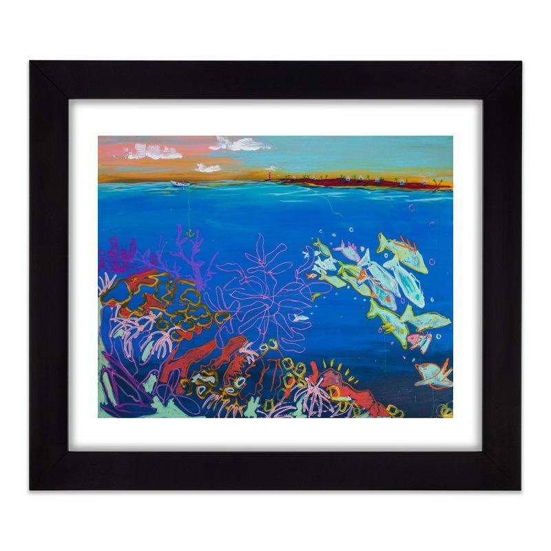 the love boat  Home Framed Fine Art Print by stobo's Artist Shop