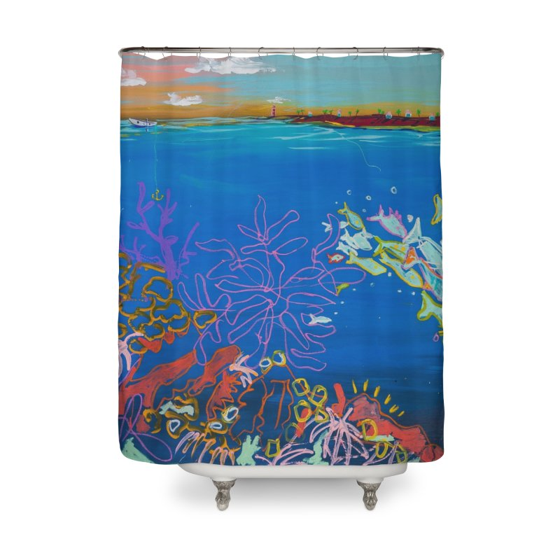 the love boat  in Shower Curtain by stobo's Artist Shop