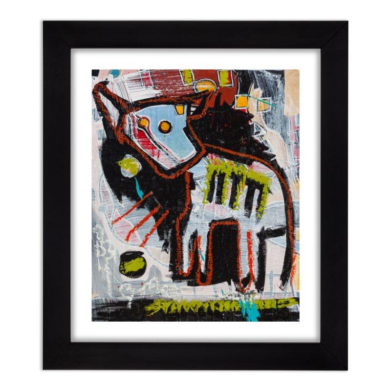 frankie. Home Framed Fine Art Print by stobo's Artist Shop