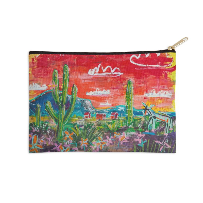 we painted our houses red to remind us of our love. in Zip Pouch by stobo's Artist Shop