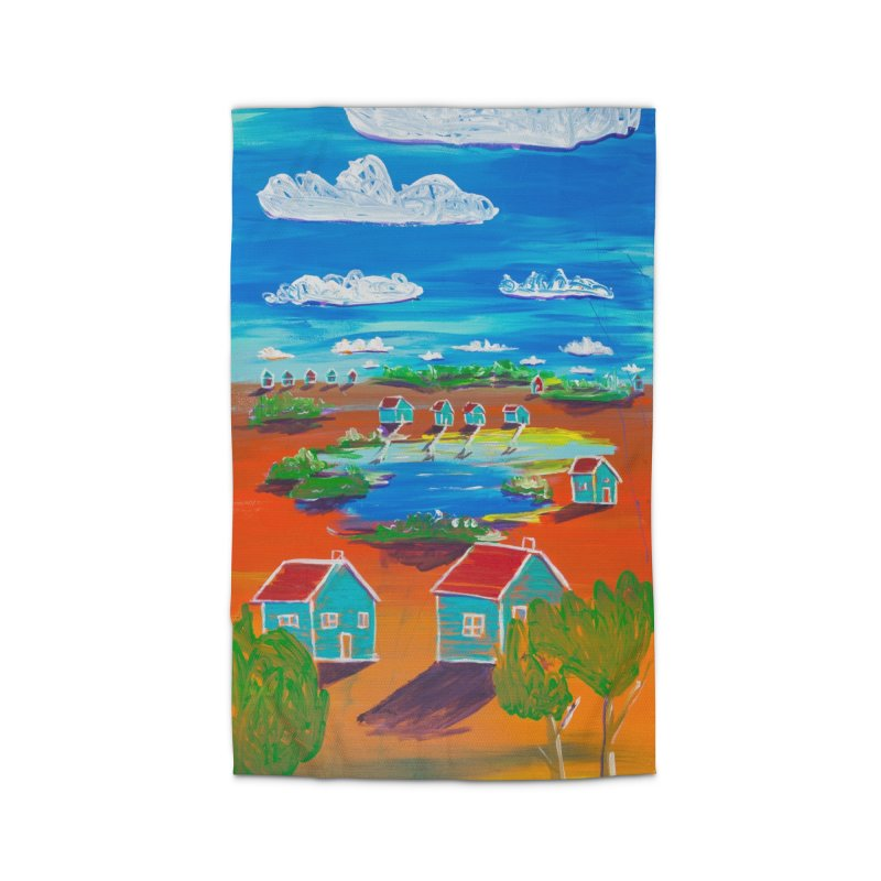 We lived at the lake and swam everyday in Rug by stobo's Artist Shop