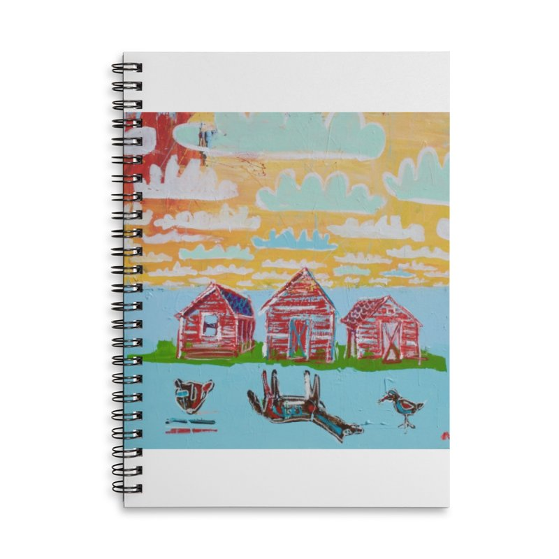 dream upsidedown Accessories Lined Spiral Notebook by stobo's Artist Shop