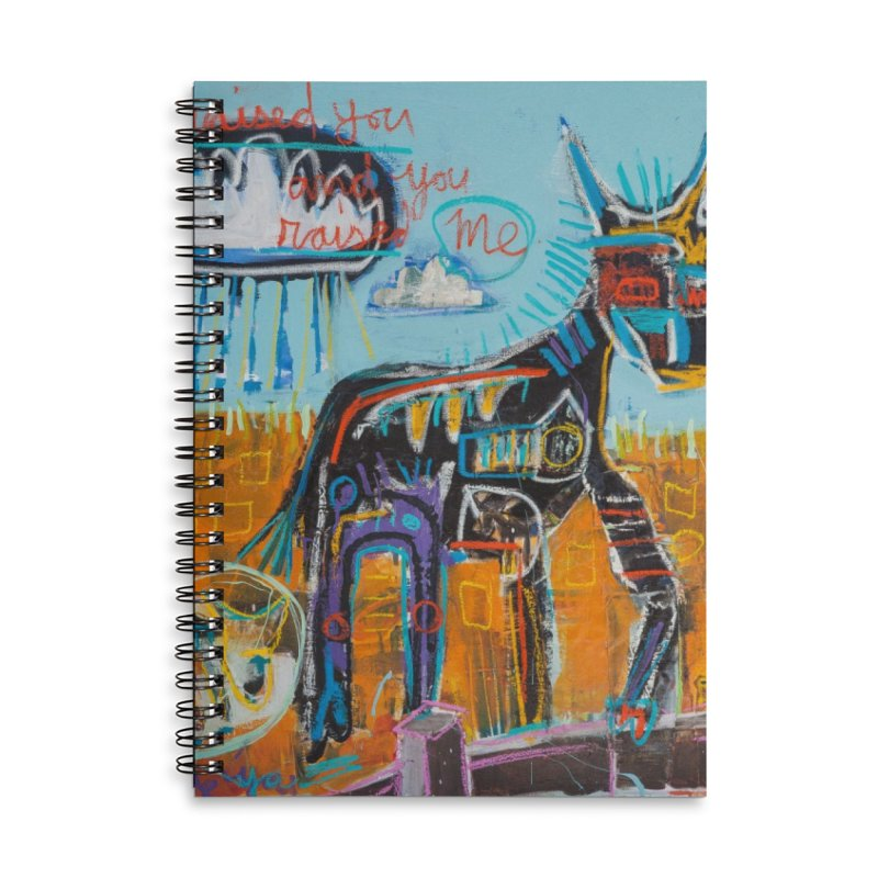 You raised me up Accessories Lined Spiral Notebook by stobo's Artist Shop