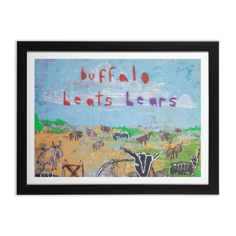 buffalo wins Home Framed Fine Art Print by stobo's Artist Shop