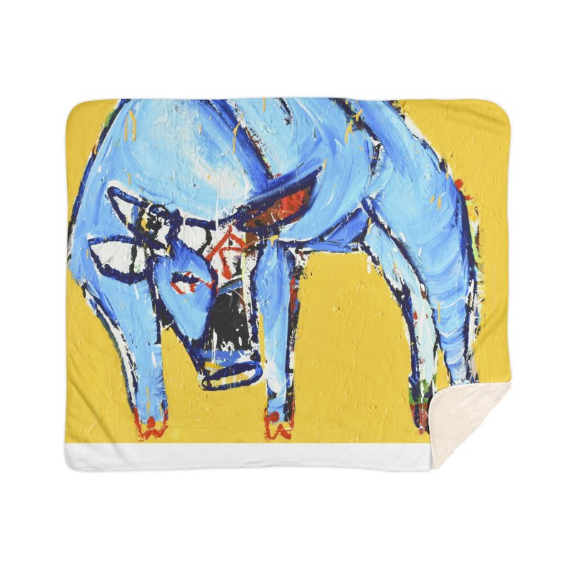 the bull Home Blanket by stobo's Artist Shop