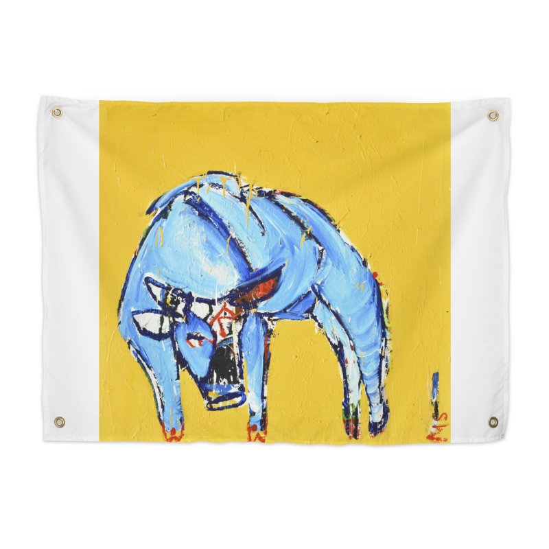 the bull Home Tapestry by stobo's Artist Shop