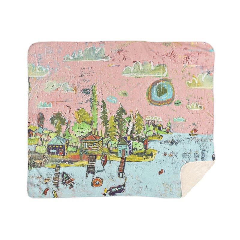 island lake Home Blanket by stobo's Artist Shop