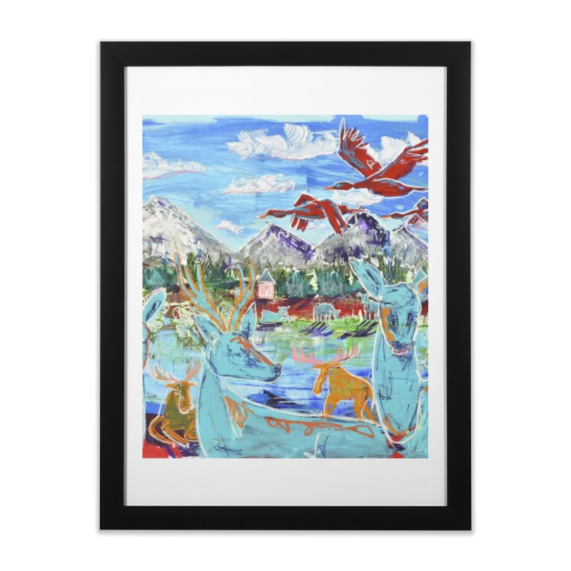 friends by the river Home Framed Fine Art Print by stobo's Artist Shop