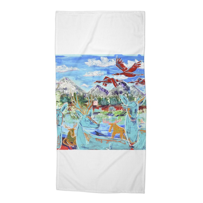 friends by the river Accessories Beach Towel by stobo's Artist Shop