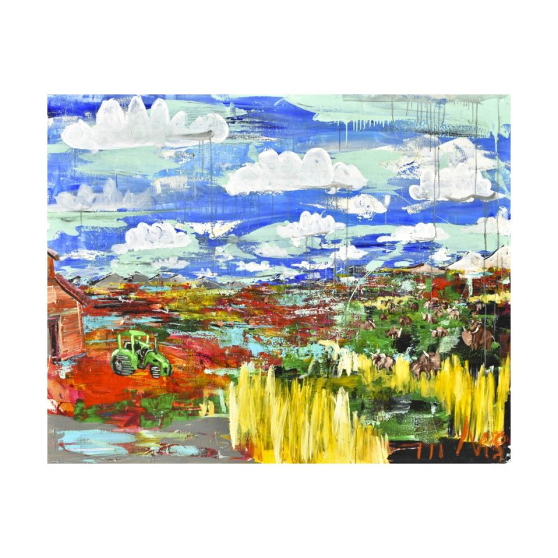 the tractor Home Blanket by stobo's Artist Shop
